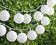 Новогодние гирлянды, хлопковые шары, 2,5 Метров, фото 6