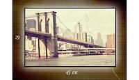 Картина с подсветкой 29х45 см Цветы у воды,Форд Мустанг,Бруклинский мост,Морское настроение,Подводный мир