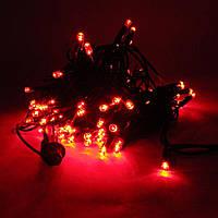 Гирлянда светодиодная уличная 100 LED, 10м (RD-07127) (Провод-черный,цвет-красный), фото 1