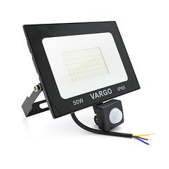 Прожектор LED c датчиком руху Vg-50W, IP65, 6500K, 2700Лм. Box