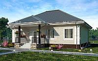 MS-016. Стильный одноэтажный коттедж с уютной террасой, фото 1