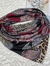 Женский хлопковый платок на голову с абстрактным принтом 100х95 см (цв.6)