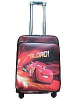 Детский чемодан на 4 колесиках Молния Маквин, телескопическая ручка 2 положения. Подарок замок