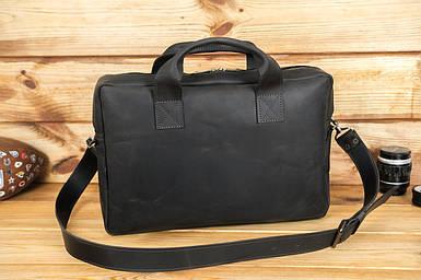 Кожаная мужская сумка Стивен, натуральная Винтажная кожа цвет коричневый, оттенок Шоколад