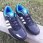 Кроссовки Adidas р.44 чёрные кожзам сезон осень/весна, фото 5