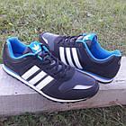 Кроссовки Adidas р.44 чёрные кожзам сезон осень/весна, фото 7