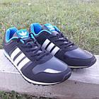 Кроссовки Adidas р.44 чёрные кожзам сезон осень/весна, фото 3