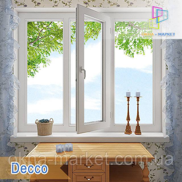 "Трехстворчатое окно 1800x1400 Decco 71, Decco 82 ""Окна Маркет"""