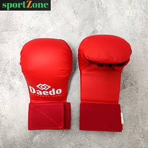 Перчатки для каратэ Daedo 5076, размер M, красный