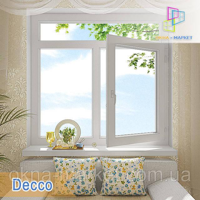 "Окно с фрамугой Decco 71, 82, 83 1400x1700 ""Окна Маркет"""