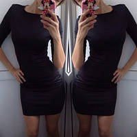 Женское Платье мини черное