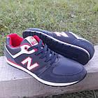 Кросівки чоловічі New Balance р. 41 темно-сині кожзам осінь/весна, фото 4