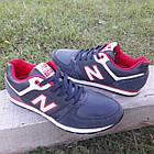 Кросівки чоловічі New Balance р. 41 темно-сині кожзам осінь/весна, фото 5