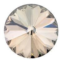 Пришивные риволи в цапах Preciosa (Чехия) 12 мм Crystal Velvet/серебро