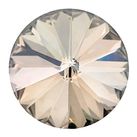 Пришивные риволи в цапах Preciosa (Чехия) 12 мм Crystal Velvet/золото