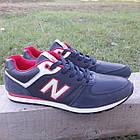 Кросівки New Balance р. 45 темно-синій кожзам осінь/весна, фото 2