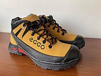 Мужские зимние кроссовки желтые удобные на меху (код 6020)