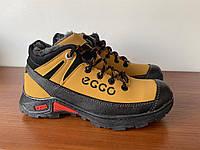 Ботинки мужские зимние желтые спортивные  ( код 6020 )