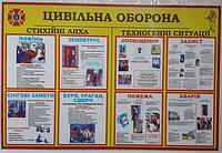 """Стенд по охране труда для дошкольных учреждений «Цивільна оборона"""""""