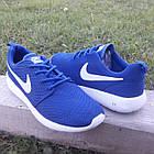 Кроссовки Nike р.45 текстиль сетка синие, фото 7