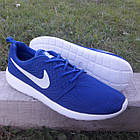 Кроссовки Nike р.45 текстиль сетка синие, фото 3
