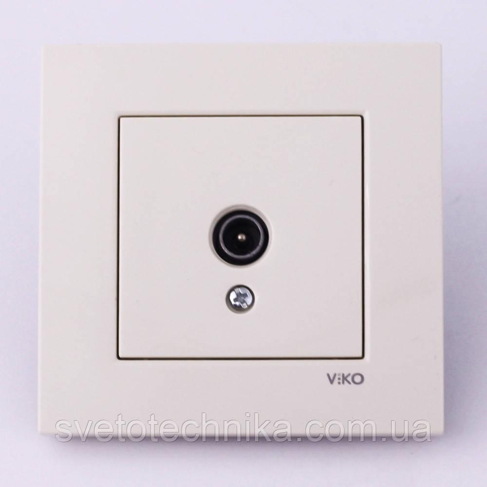 Розетка антенная VI-KO Karre скрытой установки (белая)
