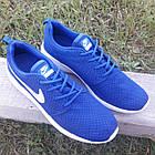 Кроссовки Nike р.44 текстиль сетка синие, фото 5