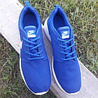 Кроссовки Nike р.44 текстиль сетка синие, фото 6