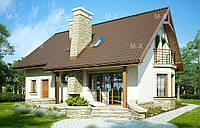 MS110 Современный мансардный дом с гаражом
