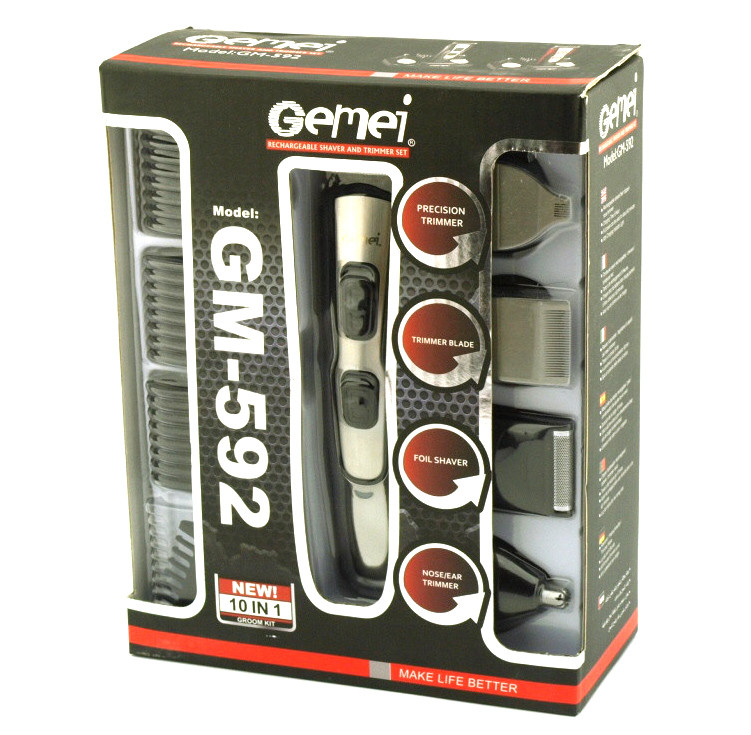 Машинка для стрижки Gemei GM 592 10 в 1