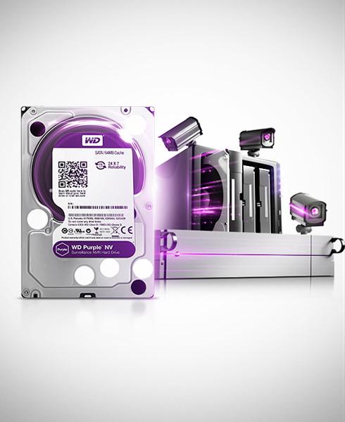 Накопитель памяти для регистратора видеонаблюдения Western Digital Purple 2TB WD20PURZ