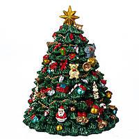 Музична карусель новорічна ялинка 16*12 см