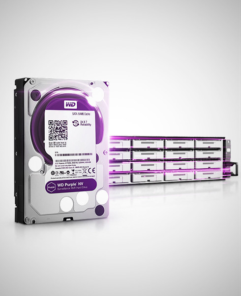 Винчестер для видеонаблюдения Western Digital Purple 4TB WD40PURZ