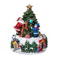Музична карусель новорічна композиція Ялинка 12*15.5 см