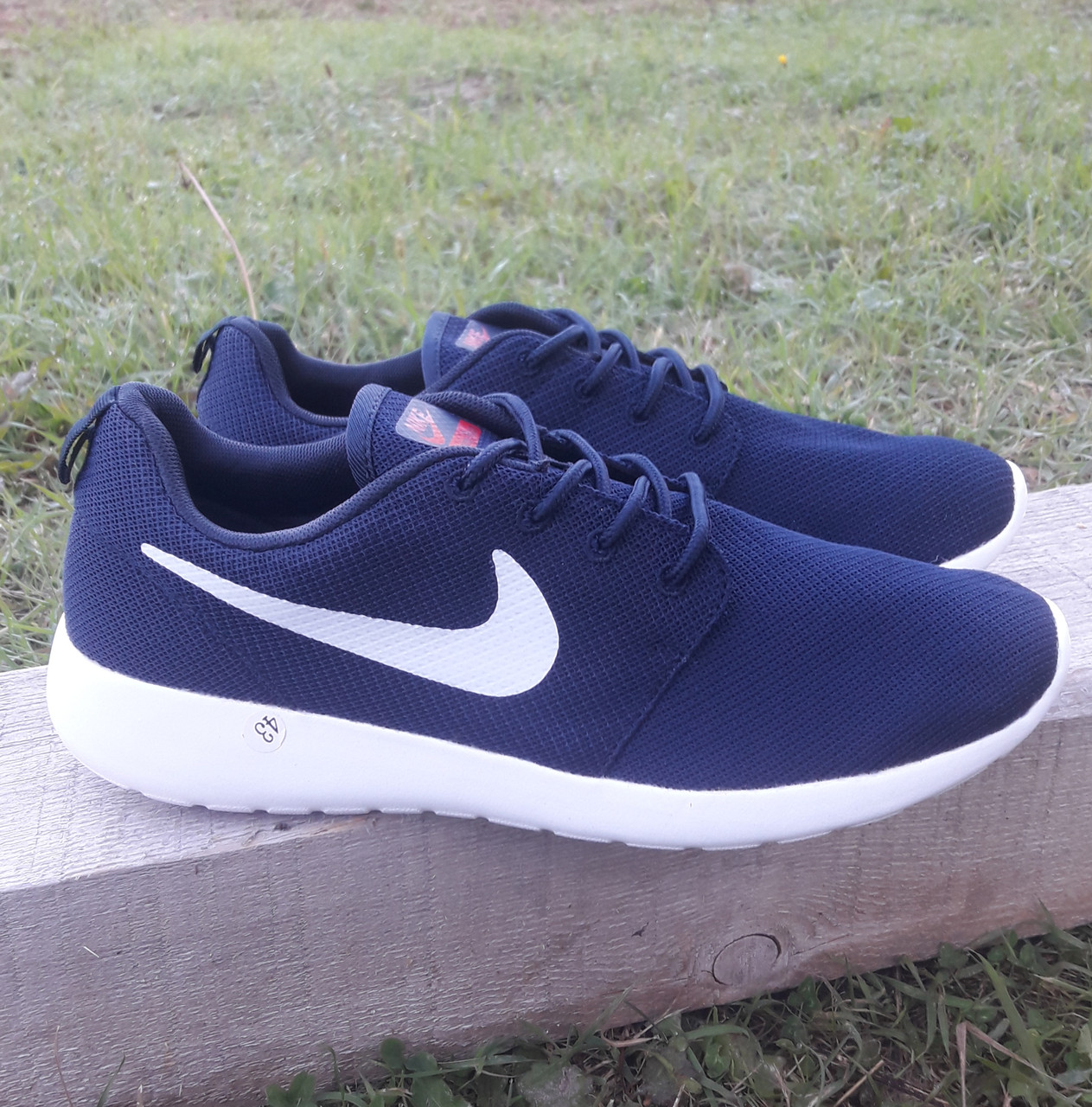 Кроссовки Nike р.43 текстиль сетка тёмно-синие