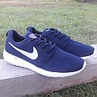 Кроссовки Nike р.43 текстиль сетка тёмно-синие, фото 2