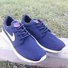 Кроссовки Nike р.43 текстиль сетка тёмно-синие, фото 3