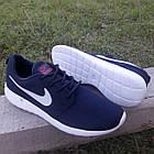 Кроссовки Nike р.43 текстиль сетка тёмно-синие, фото 5