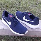 Кроссовки Nike р.43 текстиль сетка тёмно-синие, фото 6