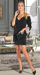 Мерцающее платье MF106 Черное S
