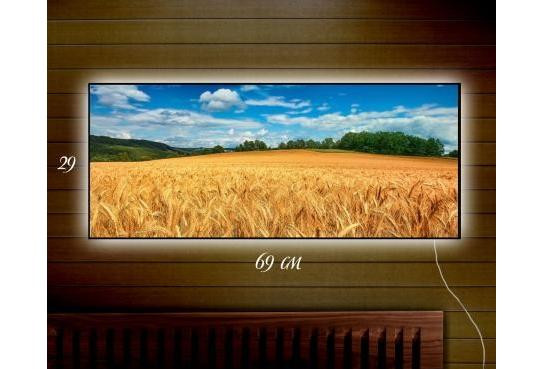 Картина с подсветкой 29х69 см Дерево, Пшеничное поле, Ракушка, Морской прибой, Рассвет - Магазин Кошара в Киеве