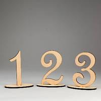 "Заготовка для декупажа и декора ""Набор цифр на подставке (1-6, 6 шт.)"""
