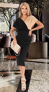 Платье с поясом MF107 Черное S