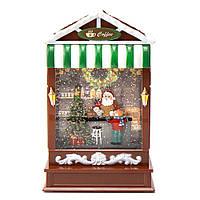 """Музичний будиночок """"Різдвяна кав'ярня"""" 16*29 см"""