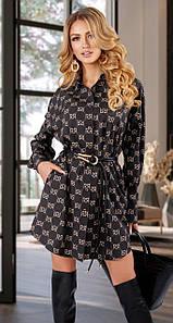 Платье-рубашка MF109 Черное S