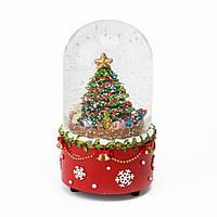 Музичний куля зі снігом з автометелью 8*15 см