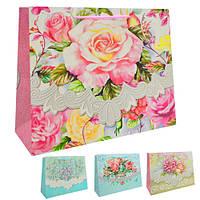 """Пакет подарочный бумажный L """"Sweet flower"""" 45*34*12см, ЦЕНА ЗА УП. 12ШТ (240шт)"""