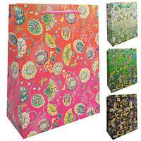 """Пакет подарочный бумажный M """"Fairy butterfly"""" ЦЕНА ЗА 12ШТ, 26*32*10см (480шт)"""