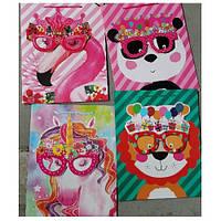 """Пакет подарочный бумажный M """"Nerd animals"""" ЦЕНА ЗА УП. 12ШТ, 26*32*10см (480шт)"""