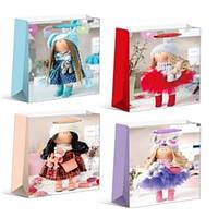 """Пакет подарочный бумажный S """"Dolls"""", ЦЕНА ЗА УП. 12ШТ, 18*24*8,5см (720шт)"""